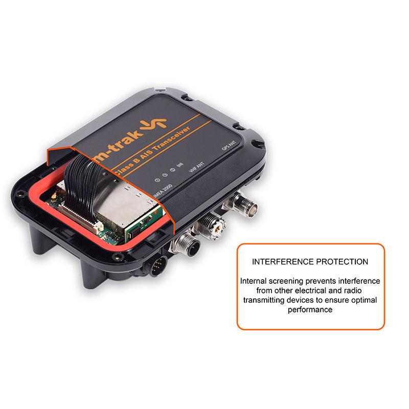 Em-trak B300 AIS transponder + S300 antenni jagaja